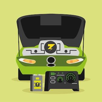 Auto elettrica a motore