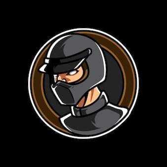 Logo della mascotte dell'emblema dello sport motoristico