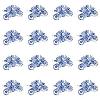Illustrazione del modello dell'uomo di moto e motociclisti. immagine in stile creativo e sportivo