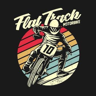 Illustrazione grafica della maglietta retrò moto