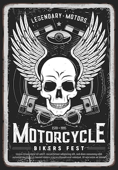Poster grungy festival motociclisti motociclisti