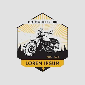 Etichetta del club motociclistico. simbolo del motociclo. icona della motocicletta. illustrazione