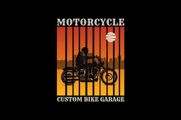 Moto, design silhouette stile retrò