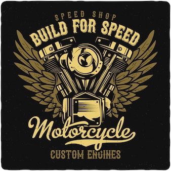 Motore motociclistico Vettore Premium