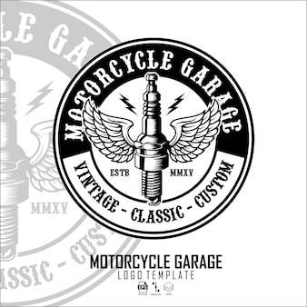 Modello logo garage motoe