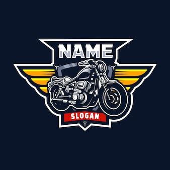 Design del logo del modello di garage per moto