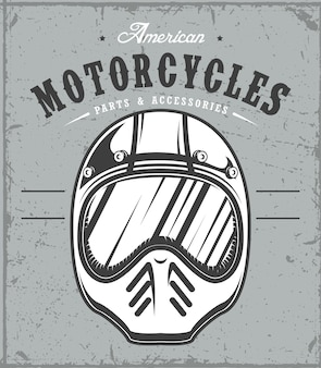 Casco da moto su sfondo grunge