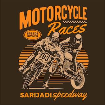 Poster di corse motociclistiche