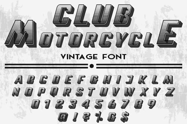 Tipografia moto