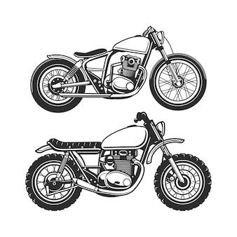 Motocicletta con stili diversi