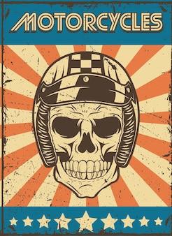 Poster patch teschio motociclista