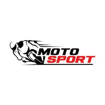 Modello logo motosport
