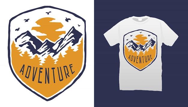 Design tshirt avventura in montagna