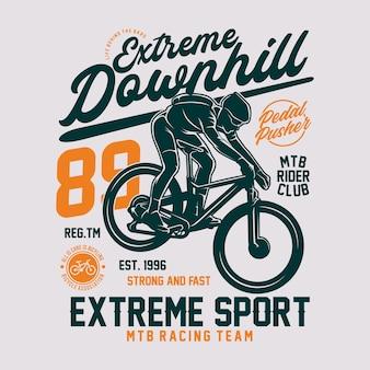 Illustrazione di mountain bike