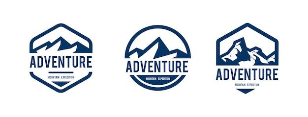 Design di montagna per badge, logo