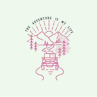 Logo di montagna hipster
