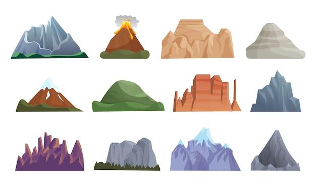 Set di icone di montagna