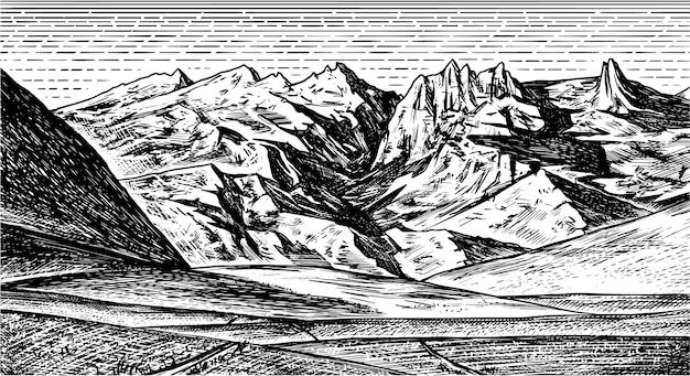 Sfondo paesaggio di montagna