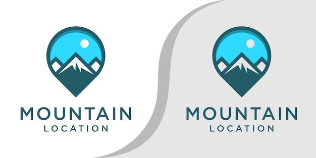 Insieme di marchio di posizione di montagna