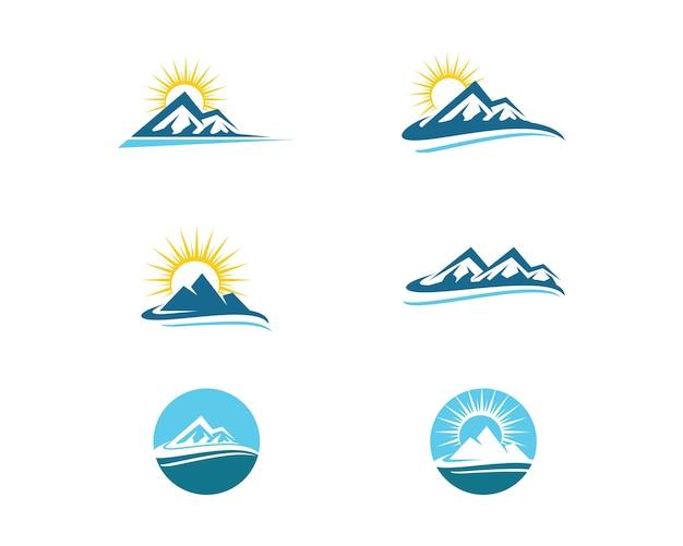 Modello di business logo di montagna