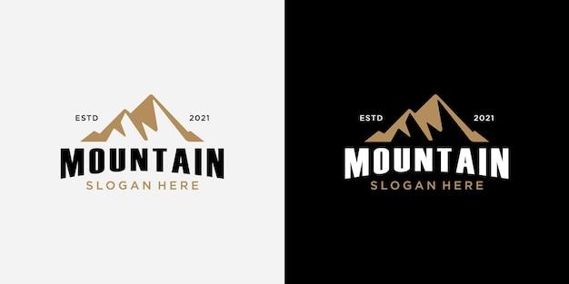 Modello di progettazione del logo di montagna