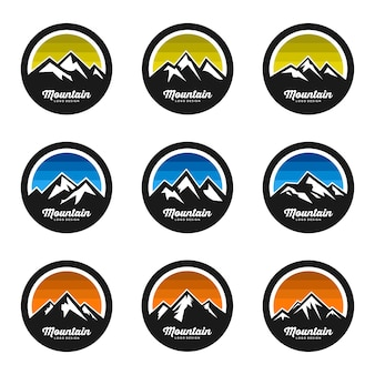 Montagna logo design vector set