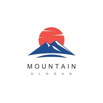 Vettore di disegno di marchio di montagna