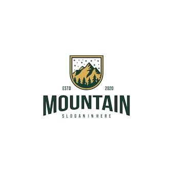 Modello di progettazione di vettore dell'icona di logo di montagna