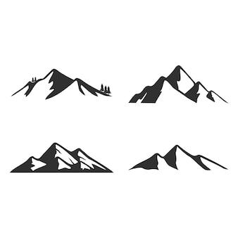 Illustrazione del logo di montagna