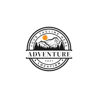 Illustrazione del logo della montagna
