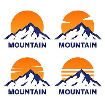 Insieme di marchio di montagna