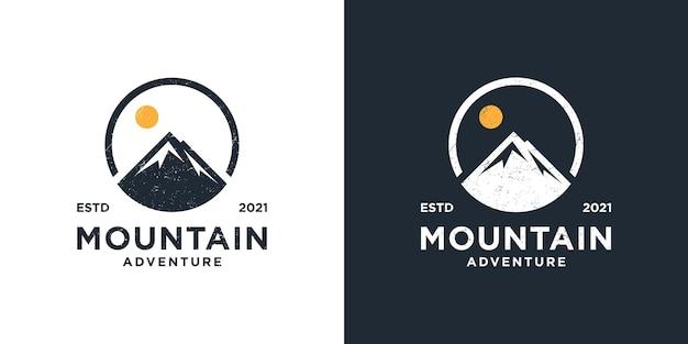 Avventura all'aperto modello logo montagna. grafica di design per t-shirt, borsa e altri usi