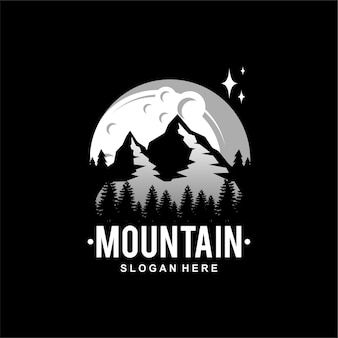 Logo della luna di montagna