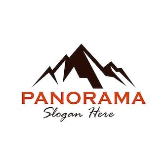 Design del logo del panorama montano