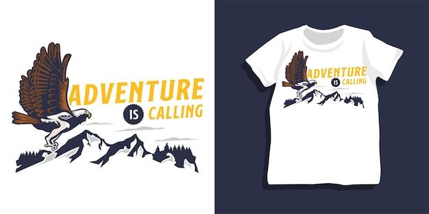 Design t-shirt con citazione di montagna