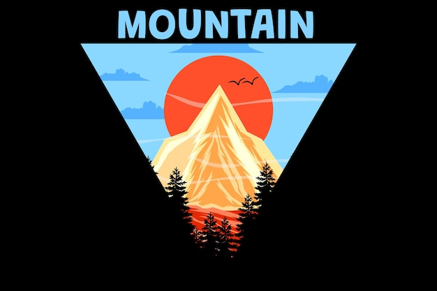 Design vintage retrò di montagna