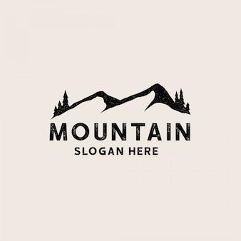 Modello di logo di sagoma di montagna