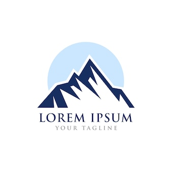 Mountain summit theme symbol design Vettore Premium