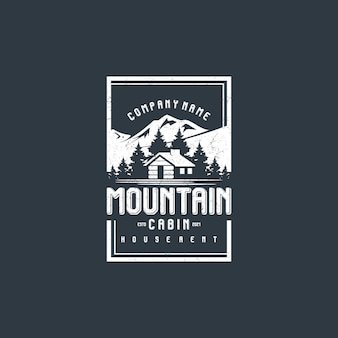 Vista montagna con baita per casa di paese in affitto logo