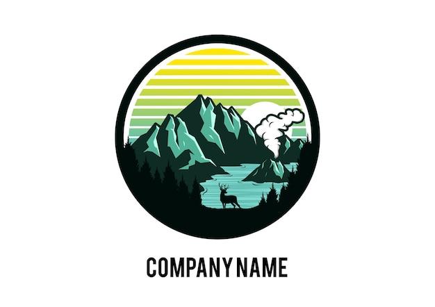 Logo mountain volcano