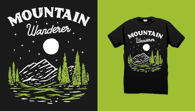 Maglietta del vagabondo della montagna