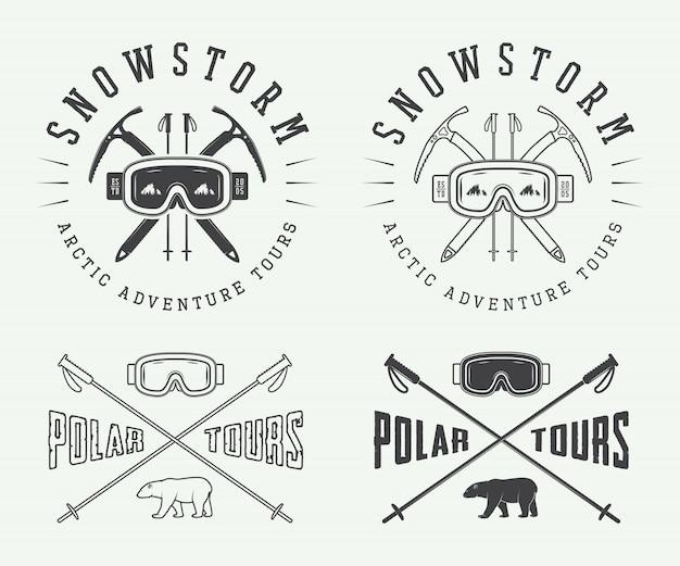 Set logo alpinismo