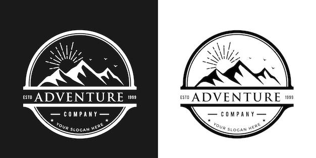 Modello di logo vintage alpinismo