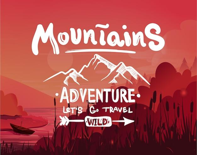 Emblema delle montagne, simbolo di attività all'aperto.