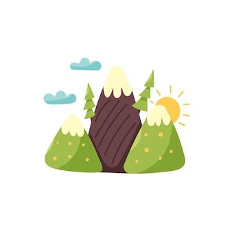 Montagne campi foreste