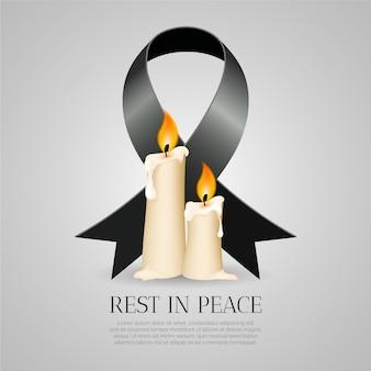 Lutto per le vittime con la candela