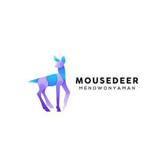 Design del logo colorato cervo topo