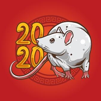 Illustrazione ambulante del mouse