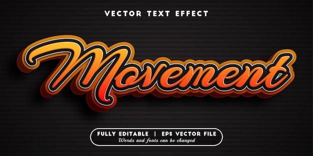 Effetto testo di movimento, stile di testo modificabile