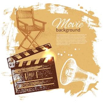 Sfondo del film con illustrazione di schizzo disegnato a mano